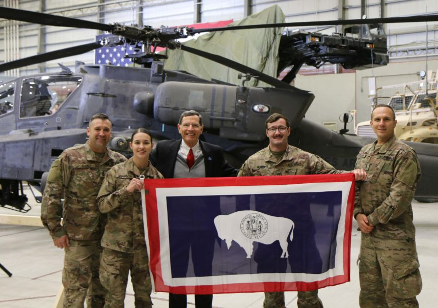 barrasso with wyoming troops