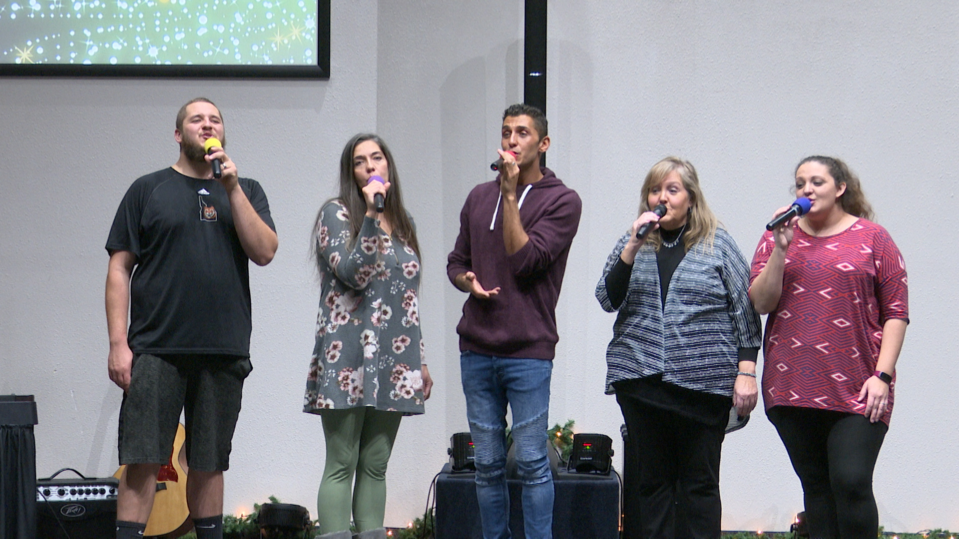 The Michaud family performs their yearly Christmas Angels concert to collect toy donations for need families.