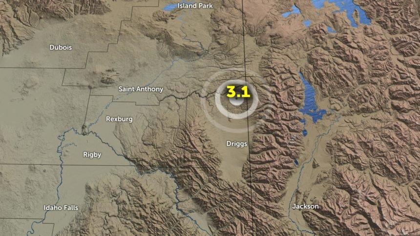 123019 earthquake near Driggs, Idaho