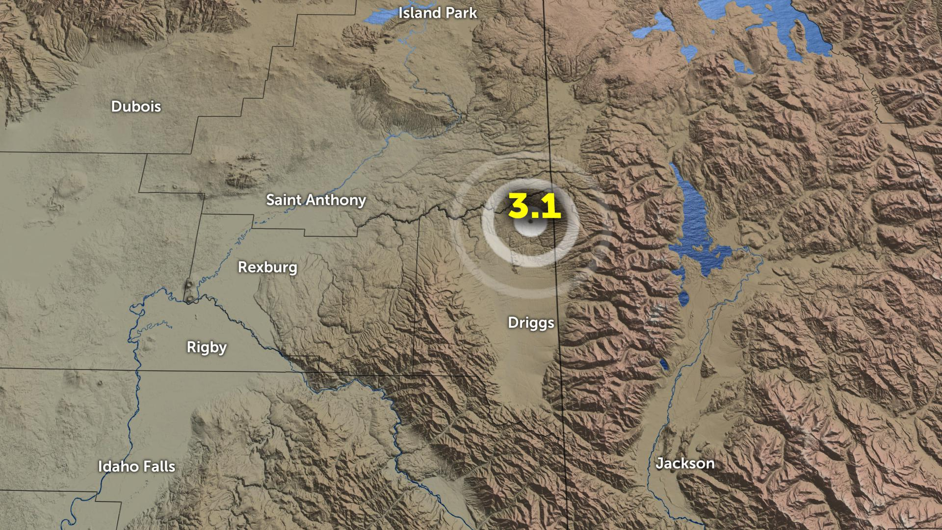 123019 earthquake near Driggs, Idaho