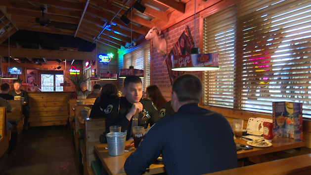 Shop With a Cop fundraiser at Texas Roadhouse