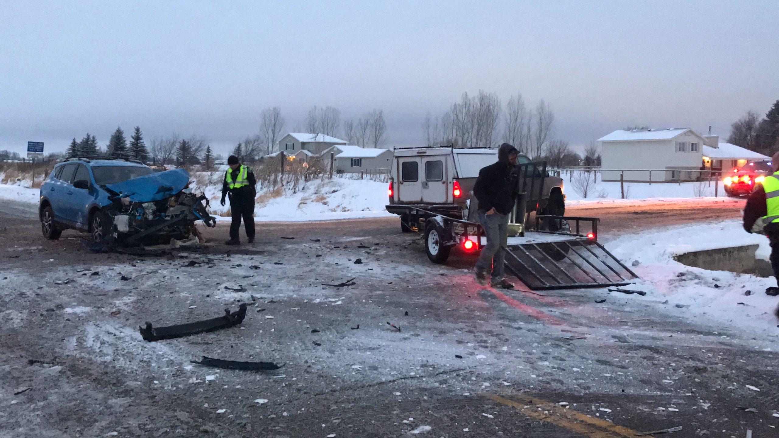 Accident at 49th South Ammon Road in Ammon Sunday, Jan. 5, 2020
