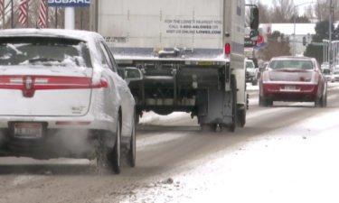 snowy road pocatello