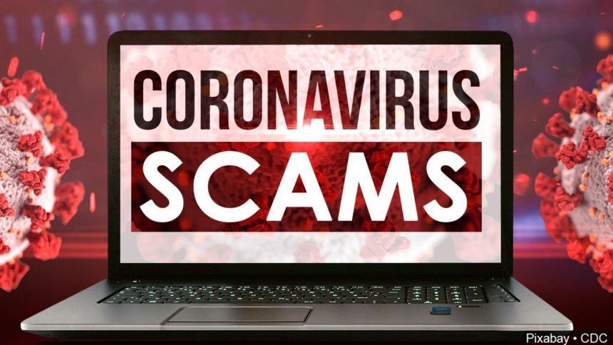 Coronavirus scam logo _123332