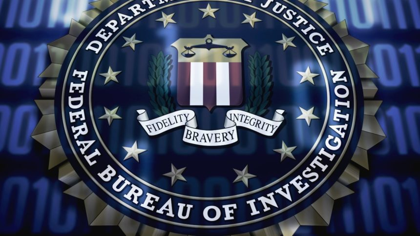 FBI seal on binary background