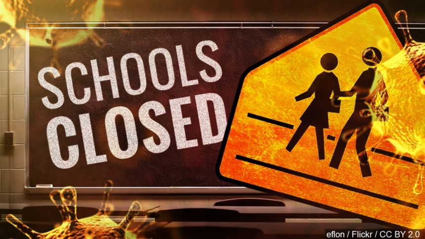 Schools closed coronavirus logo
