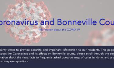 Bonneville County coronavirus website