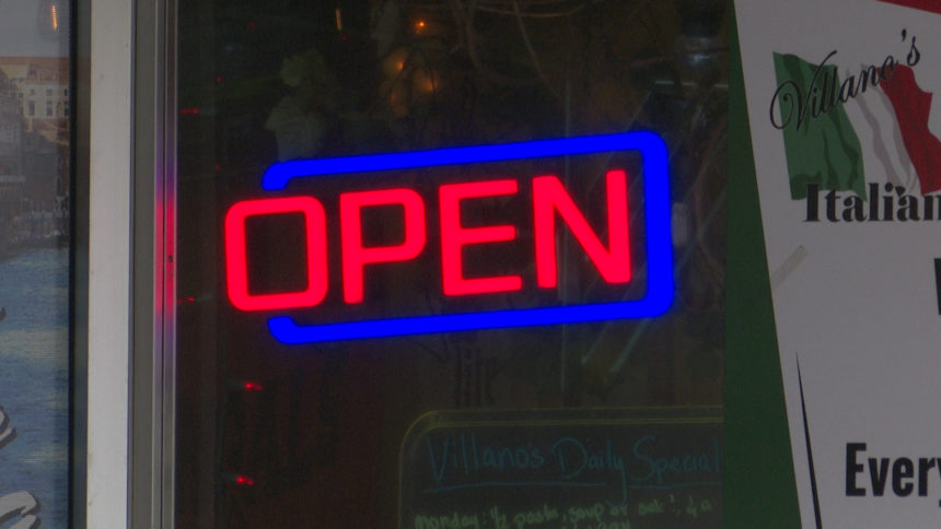 open sign logo