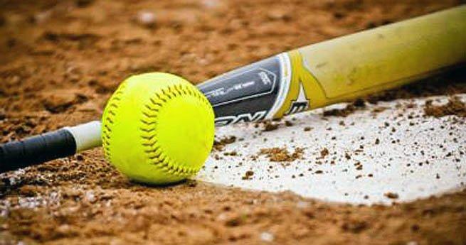 softball bat ball base