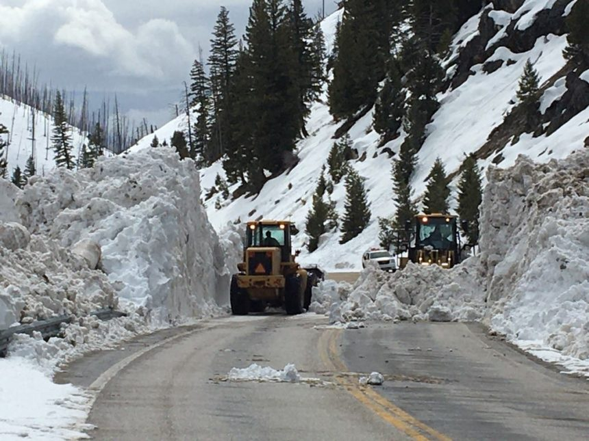 Highway 21 cleanup18_This slide was relatively free of trees or rocks, making cleanup much easier and faster.
