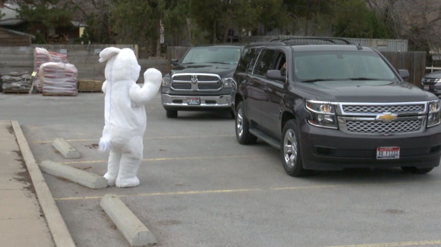 Drive-by Easter egg hunt