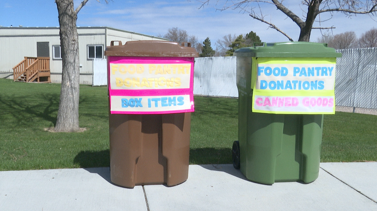 food pantry donation bins