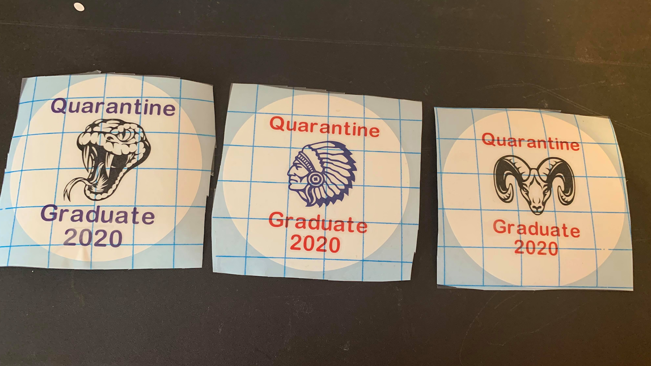Quarantine graduate stickers