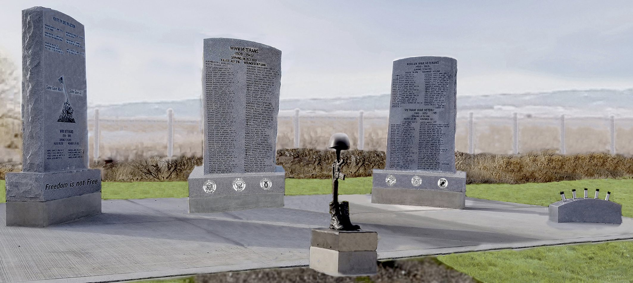 Plan for the new Veterans Memorial in the Teton Newdale Cemetery