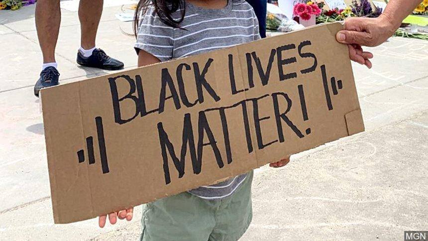 Black Lives Matter sign logo_MGN Image