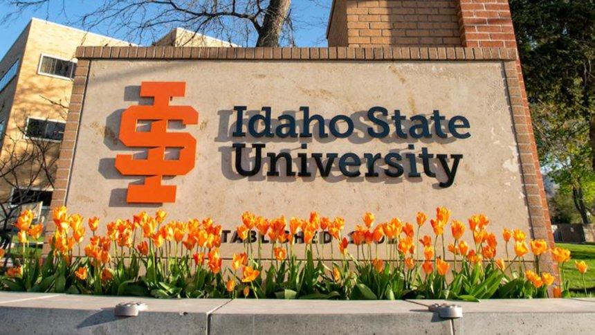 Idaho State University ISU logo sign_00932