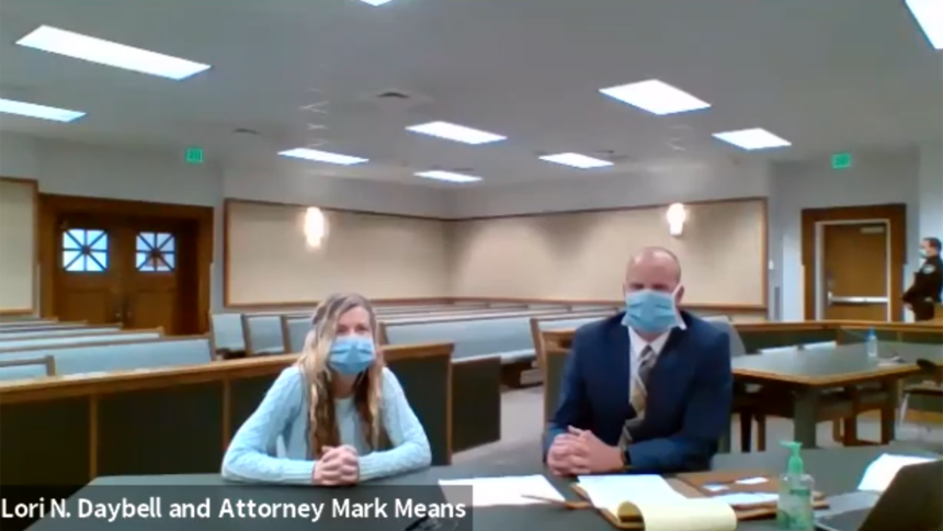 Lori Vallow Daybell and Attorney Mark Means June 30