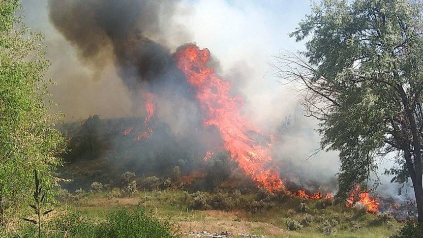Pocatello 5 acre fire