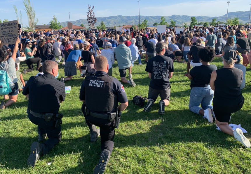 """Hundreds gather in Pocatello for """"Kneel For Nine: Unity March"""""""