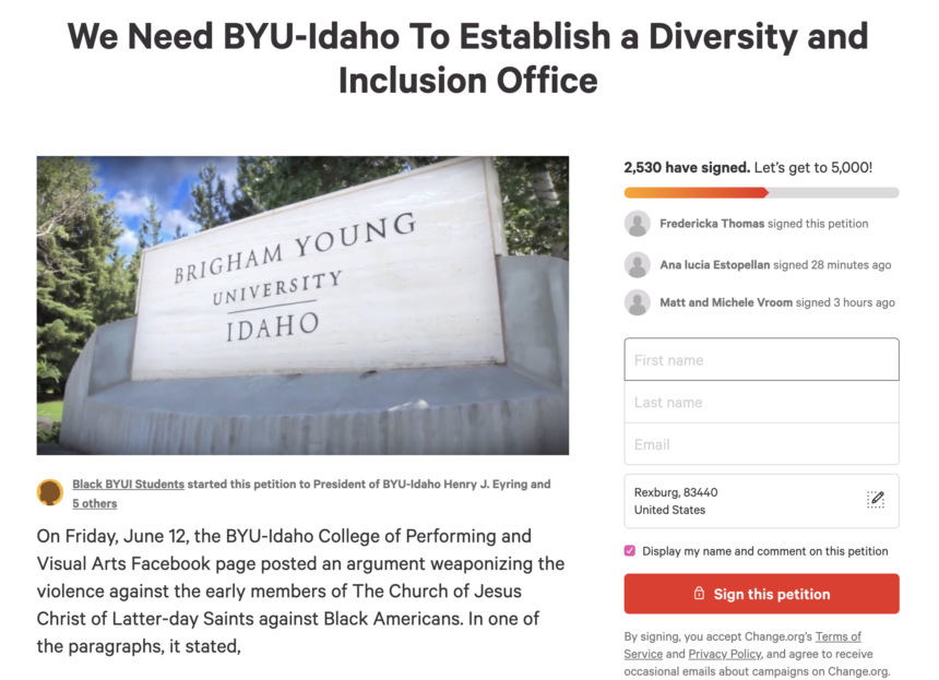 Petition for Diversity and Inclusion