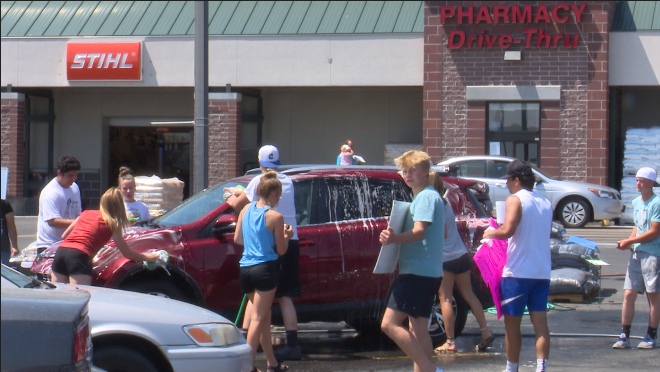 Car wash to support sports