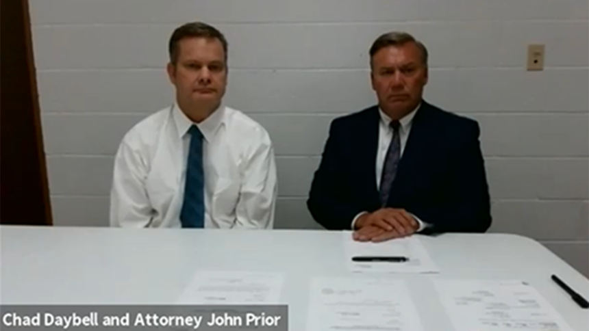 Chad Daybell and Attorney John Prior July 1