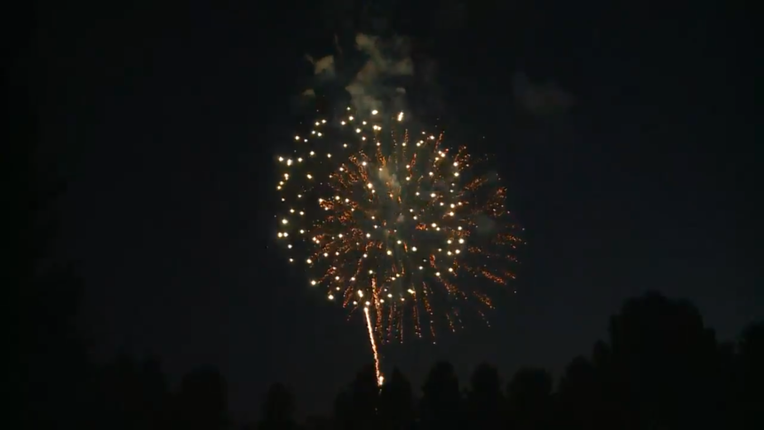 Light the Community fireworks Ammon 202016