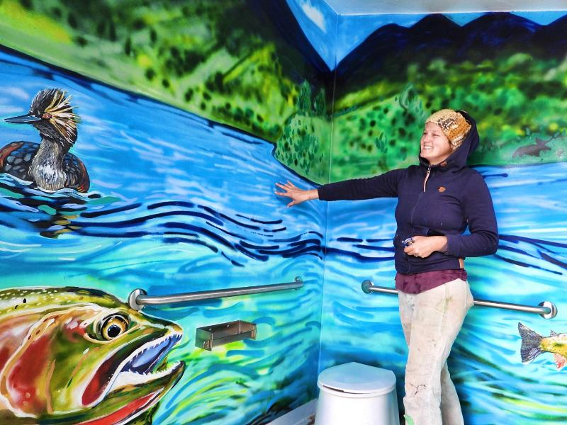 New restroom murals at Henry's Lake2