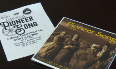 "Rexburg ""Pioneer Song"" musical play flyer"