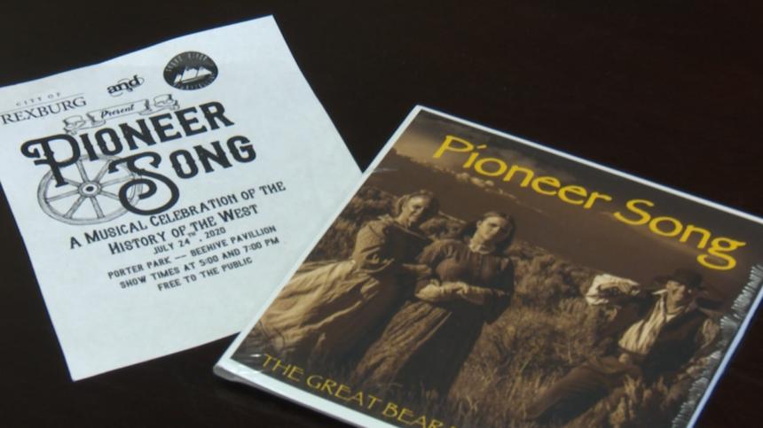 "Rexburg ""Pioneer Song"" musical play flyer"