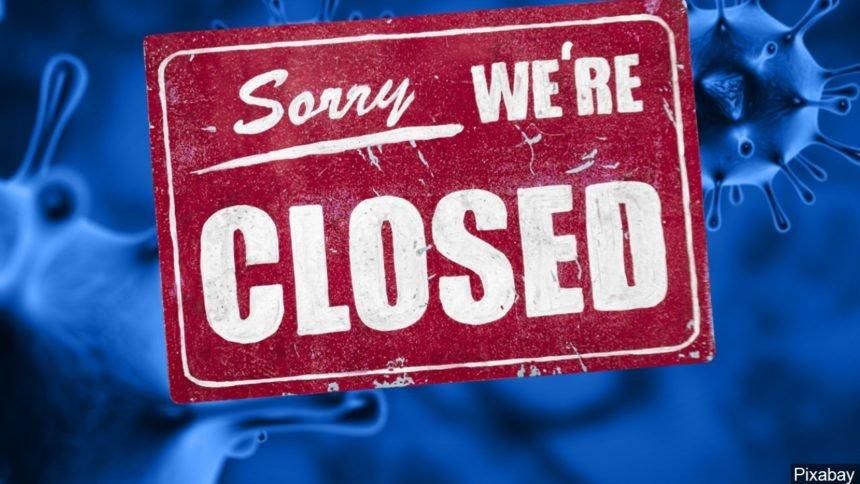 Sorry closed sign Coronavirus logo image Pixabay