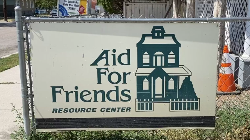 Aid for Friends sign logo