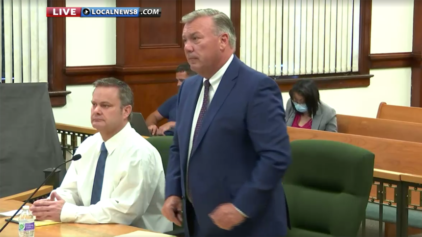Chad Daybell and attorney John Prior at preliminary hearing August 3 2020