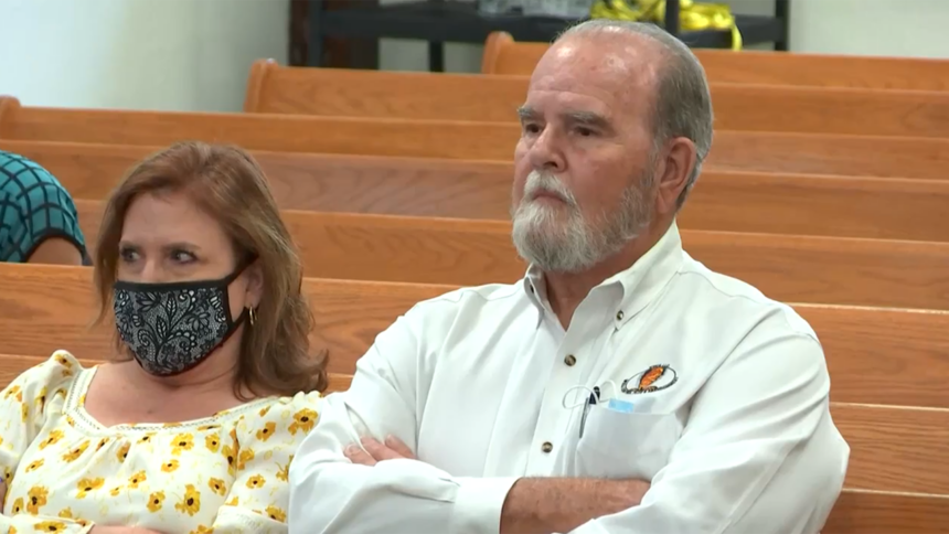 JJ's grandparents Kay and Larry Woodcock appear in court at Chad Daybell's preliminary hearing Tuesday.