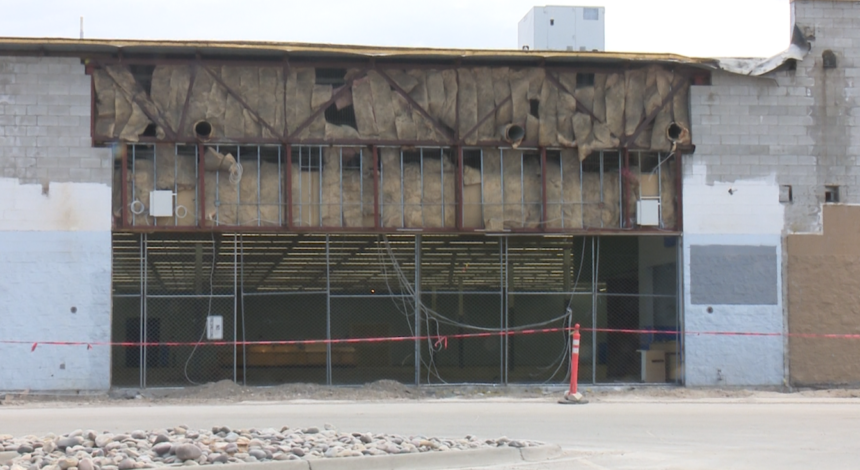 Old Walmart building in Rexburg
