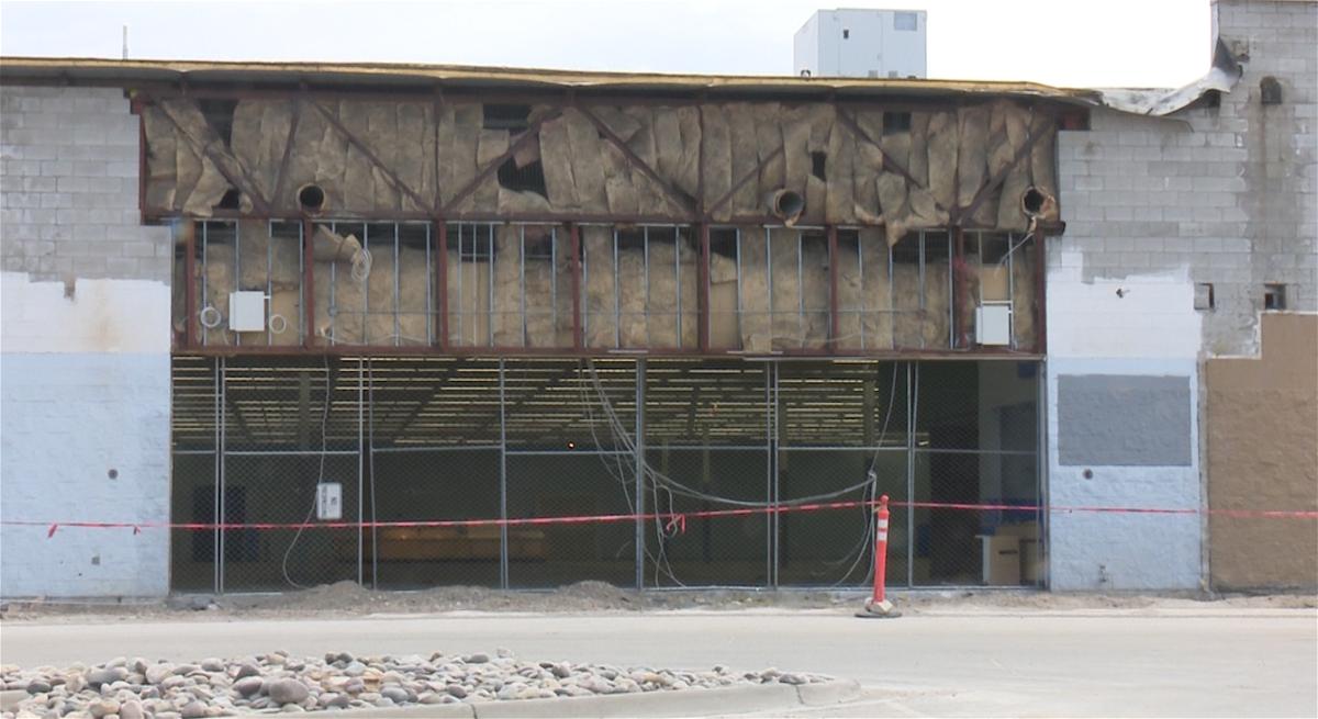 Old Walmart building in Rexburg