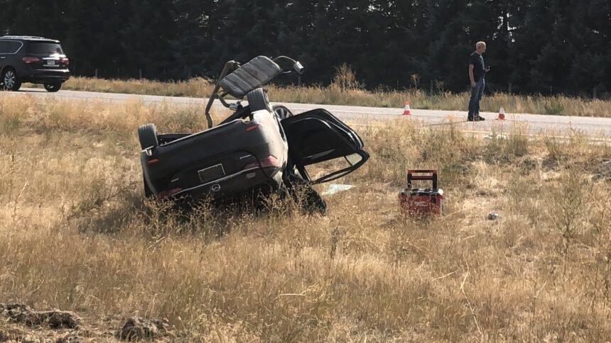 I-15 crash north of Osgood