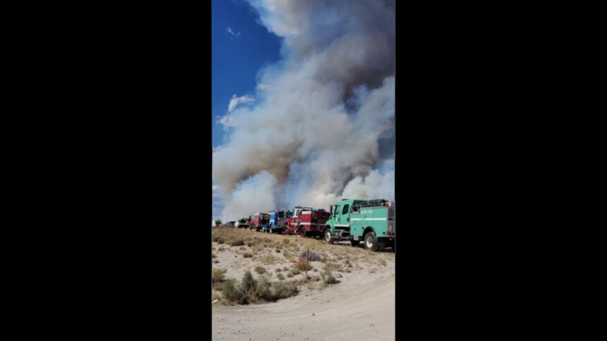 Inkom Tactical Water Tender stages at the Lost Fire, northeast Nevada