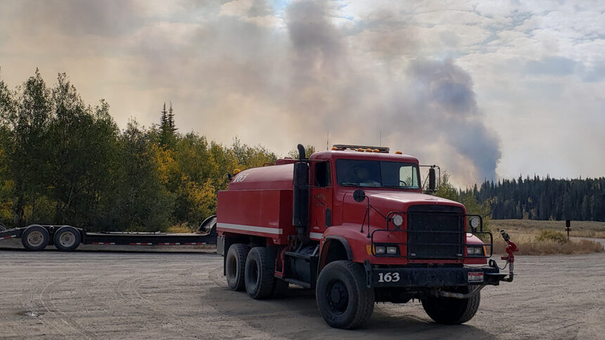 Inkom Tactical Water Tender stages for action on the Badger Fire, Cassia County, Idaho
