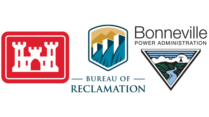 The U.S. Army Corps of Engineers (USACE), Bureau of Reclamation (BOR), and Bonneville Power Administration (BPA)