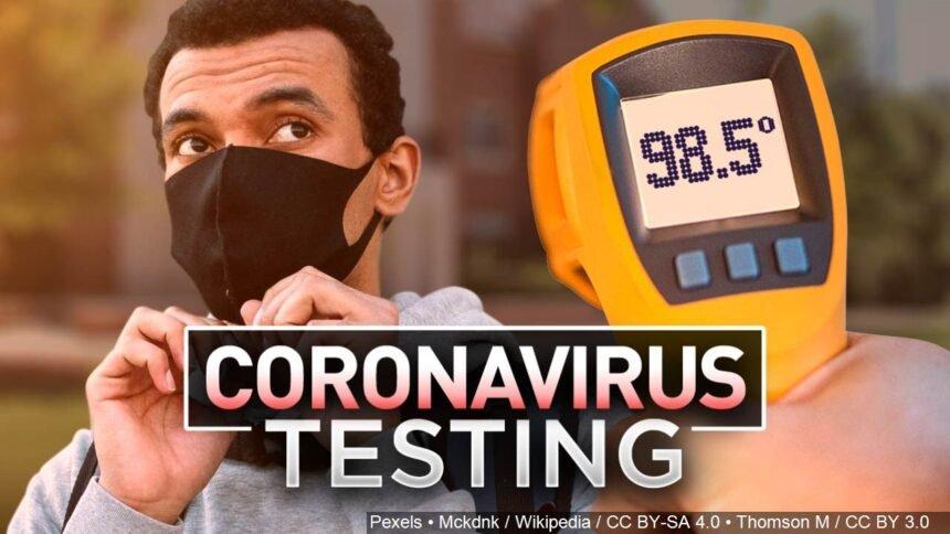 Coronavirus testing logo Pexels Mckdnk : Wikipedia : CC BY-SA 4.0 : CC BY 3.0 Thomson M : CC BY-SA 4.0 : CC BY 3.0