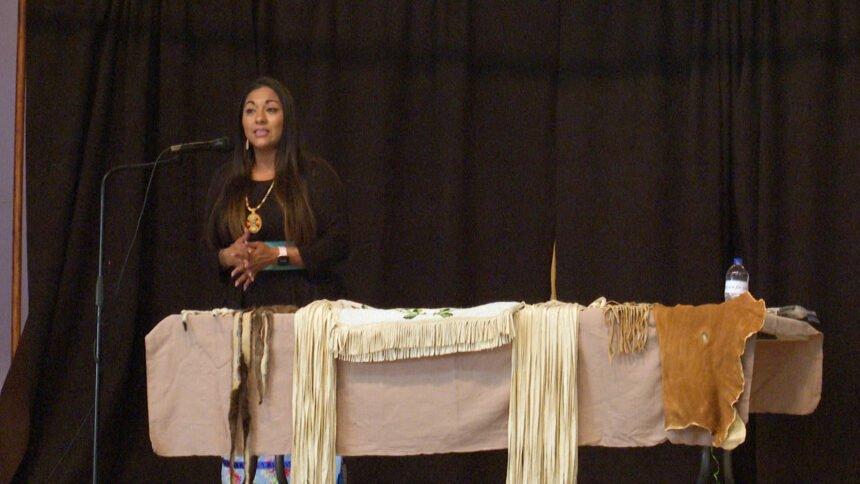 Randy'L Teton presenting at Holy Rosary in Idaho Falls