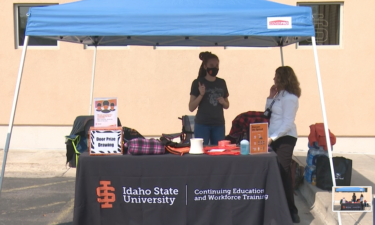 ISU Mental Health Resource Fair tent during Saturday's event
