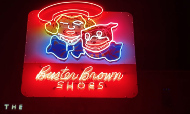 Buster Brown Shoes sign in Historic Downtown Pocatello
