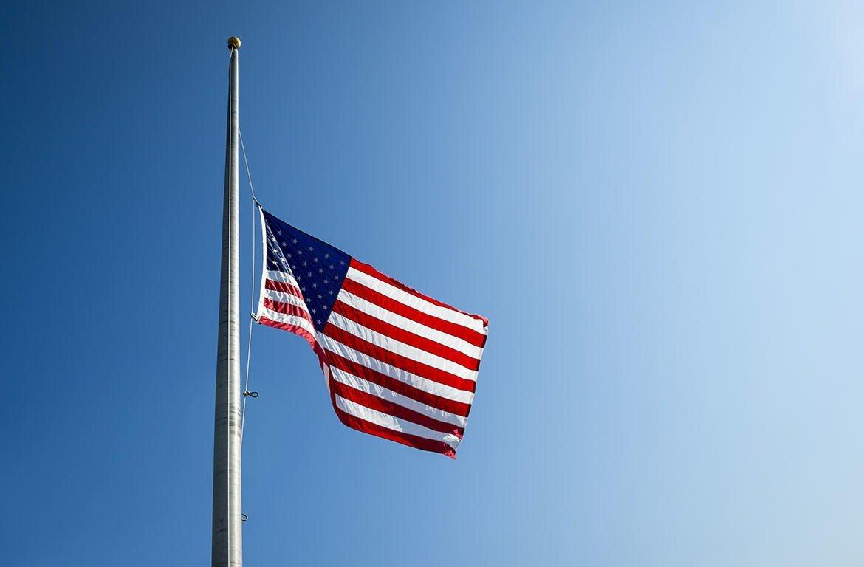 Half-staff flag