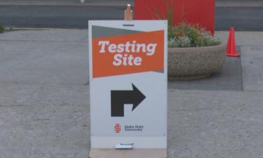 ISU COVID-19 testing site at Holt Arena