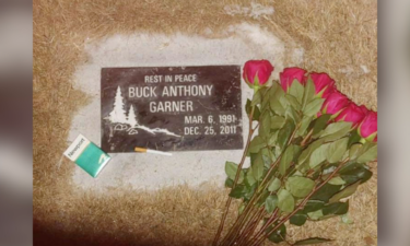 Gravestone of Buck Anthony Garner (1991-2011)