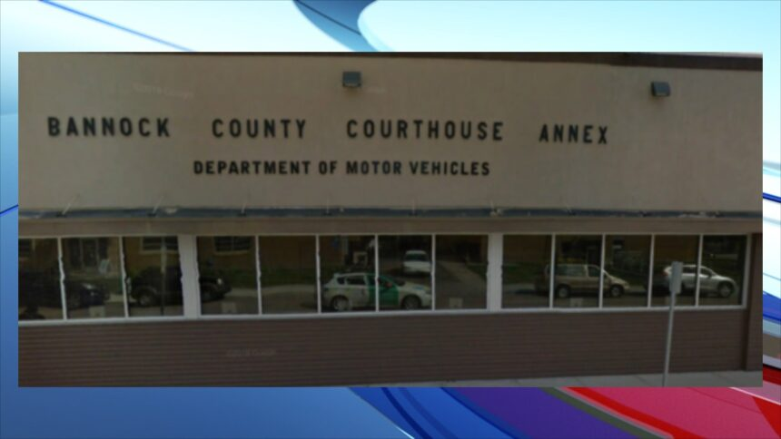 Bannock Co Courthouse Annex motor vehicles