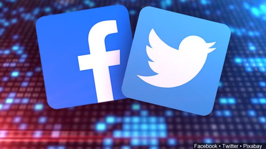 Facebook and Twitter apps background logo_Facebook Twitter Pixabay