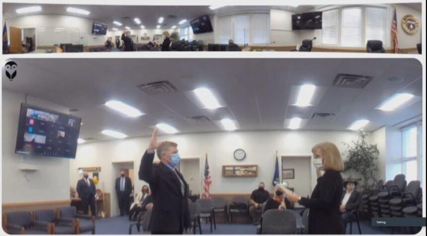 John Walker sworn in